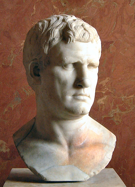Head of Agrippa - Sculpture in the Louvre