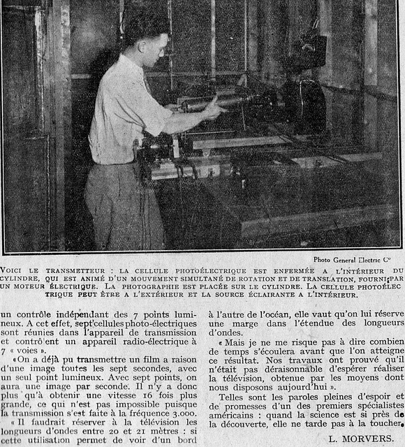 1927 premiers essais de télévision - unuaj provoj por televido