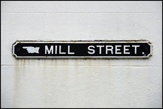 old Mill Street street sign