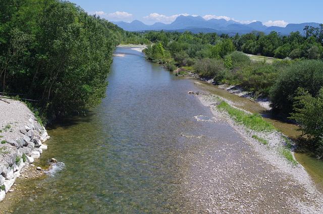 la rivière Drôme à Crest