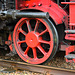 Dordt in Stoom 2014 – Wheel of the steam engine 01 1075