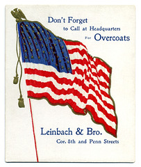 Don't Forget to Call at Headquarters for Overcoats
