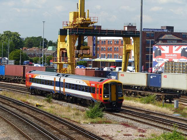 158890 arriving at Millbrook - 2 July 2014