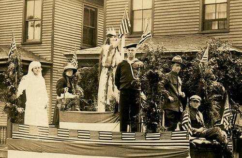 Parade Float, Welcome Home Day, Sunbury, Pa., 1919 (Cropped)