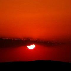 When the sun stands still.