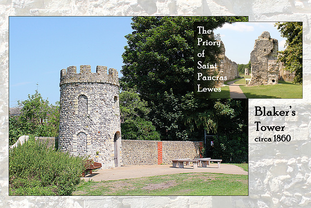 St Pancras Priory - Blaker's Tower - Lewes - 23.7.2014