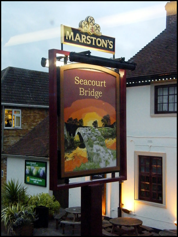 Seacourt Bridge pub sign