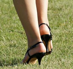 heels in the grass