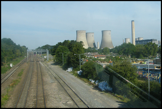 Didcot from the railway