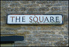 Square street sign