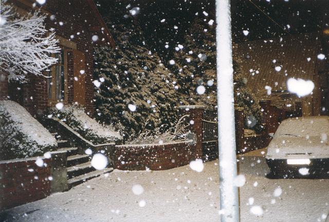 décembre 1999 il neige à gros flocons !
