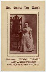 Mrs. General Tom Thumb, Trenton Theatre, 1912