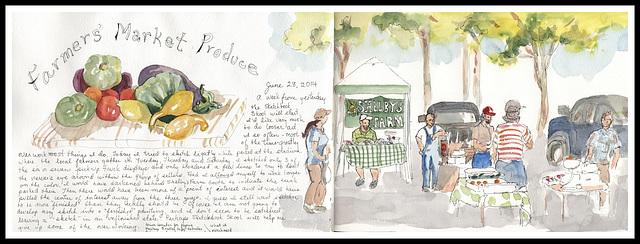 Farmers' Market sketch