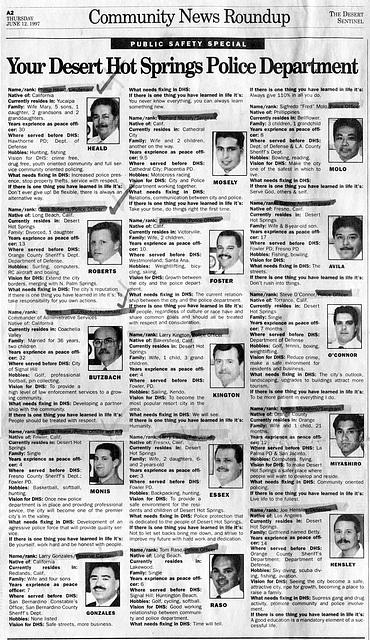 Police Dept - Desert Sentinel - June 12 1997