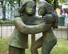 """""""Les amoureux"""" – Cabot Square, Saint Catherine Street at Atwater, Montréal, Québec"""
