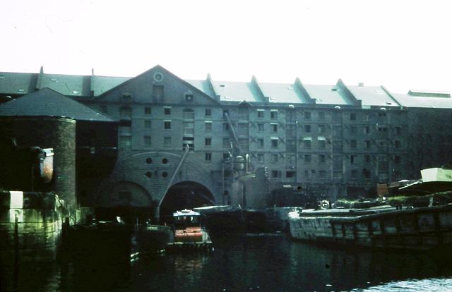 Now demolished Liverpool warehouses