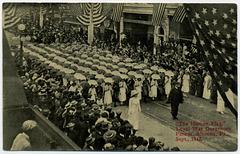 Human Flag, Loyal War Governors Anniversary Parade, Altoona, Pa., 1912