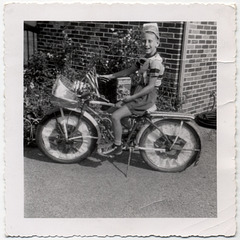 Boy Wins Tom Swift Book in Fourth of July Bike Parade in 1950s