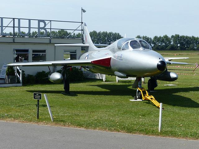 Hunter XE665 at Goodwood (1) - 1 July 2014