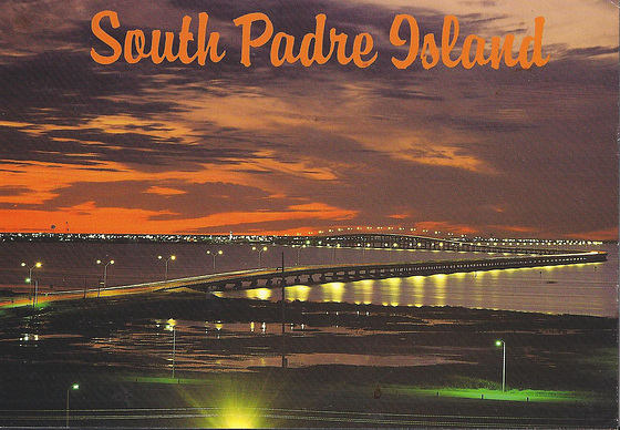 South Padre Island (poŝtkarto de Peter E.Browne pri B.Traven)