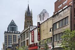 Urban Transitions – Saint Catherine Street near Saint-Alexandre, Montréal, Québec