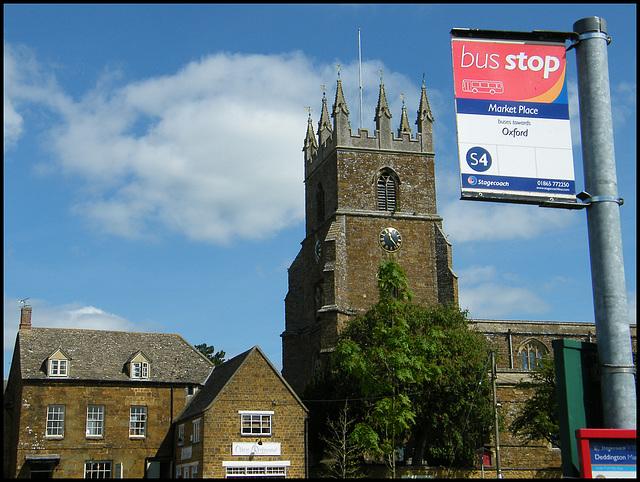 Deddington bus stop