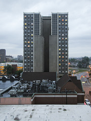"Ann Arbor's ""pride of '65,"" the attractive ""University Towers"" plural building."