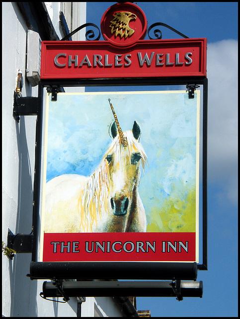 Unicorn pub sign