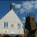 Deddington town hall and church