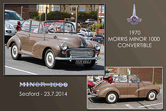 1970 Morris Minor 1000 -  Seaford - 23.7.2014