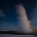 Le geyser à la pleine lune