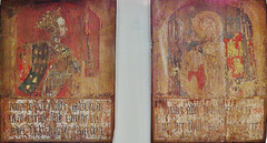 amberley castle panels,pallant house, sussex