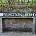 Bevington Road street sign