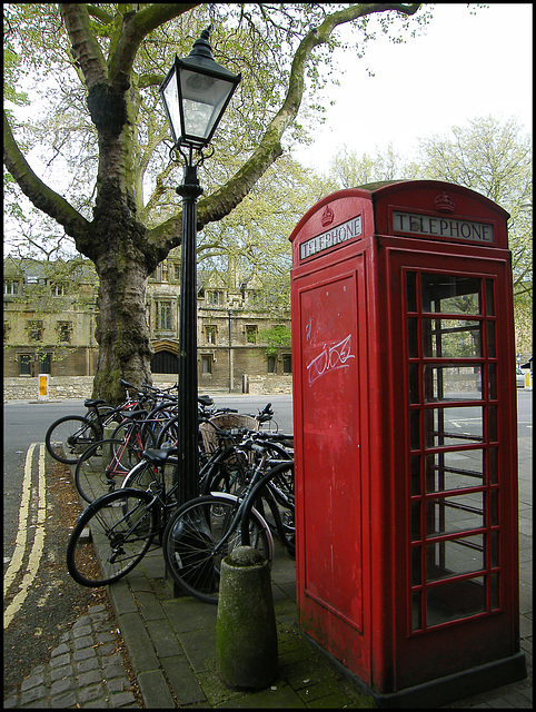 lamp and telephone box