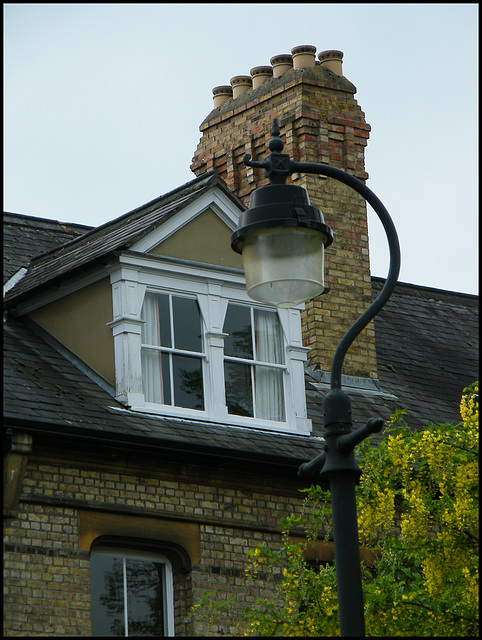 old question mark lamp post