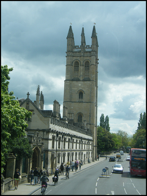 Magdalen ride past