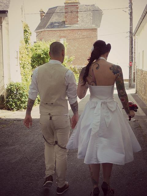 les mariés,