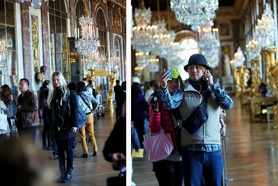 beautiful people in château de Versailles