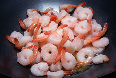 Sautéing Shrimp