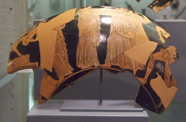 Fragment of a Red-Figure Cup Attributed to Makron in the Princeton University Art Museum, July 2011