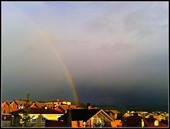 Arco iris de tarde