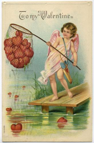 Cupid Netting Hearts
