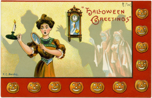 Halloween Greetings—Look Out for Ghosts