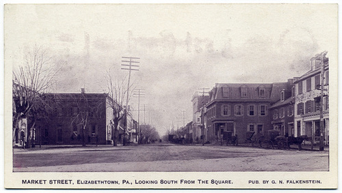Market Street, Elizabethtown, Pa., Looking South from the Square