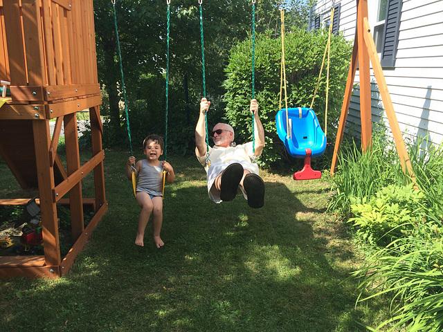 Henry & Grompy Swinging