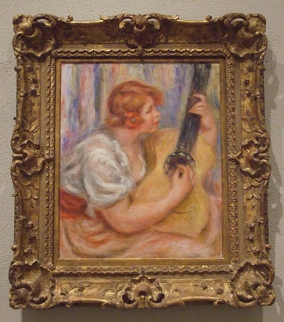 Woman with a Guitar by Renoir in the Philadelphia Museum of Art, January 2012