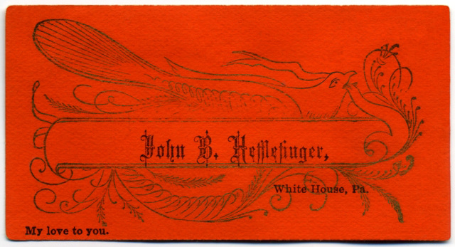 John B. Hefflefinger, White House, Pa., My Love to You
