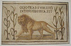 Lion and Four Stalks of Millet, the Emblem of the Leontii Sodality Mosaic in the Bardo Museum, June 2014