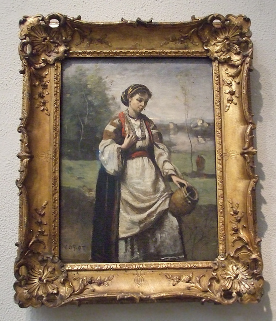 Gypsy Girl at a Fountain by Corot in the Philadelphia Museum of Art, January 2012