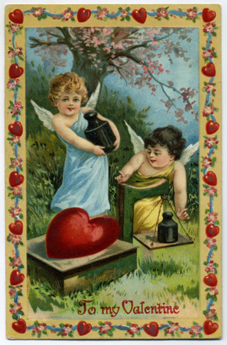 Cupids Weighing Hearts